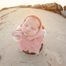 monterey newborn photographer, newborn beach session, outside newborn session, mint portrait studio, carmel newborn photographer, professional newborn photographer